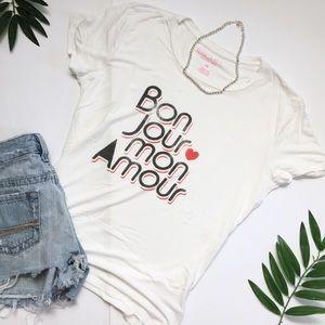 ••3/$15•• Rachel Roy / Bon Jour mon amour tee